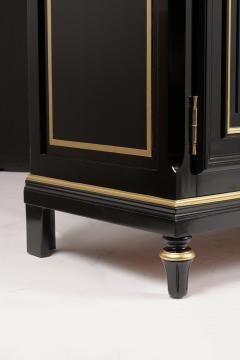 Traditional Louis XVI Style French Ebonized Finish Buffet - 1202040