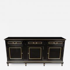 Traditional Louis XVI Style French Ebonized Finish Buffet - 1216076