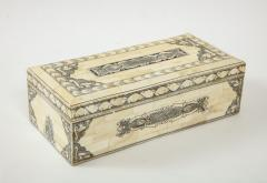 Traditional Pen Ink Decorated Bone Box - 1831094