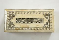 Traditional Pen Ink Decorated Bone Box - 1831100
