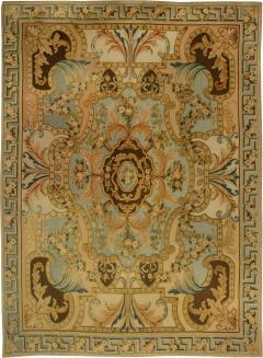 Traditional Savonnerie Inspired Hig Low Rug - 1113150