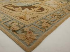 Traditional Savonnerie Inspired Hig Low Rug - 1113161