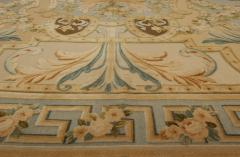 Traditional Savonnerie Inspired Hig Low Rug - 1113162