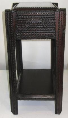Tramp Art Sewing Stand Side Table - 256569