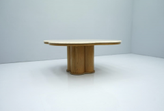 Travertine Cloud Coffee Table with Wood Base 1970s - 1837552