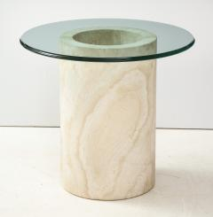 Travertine Dining Table Side Table - 2056239