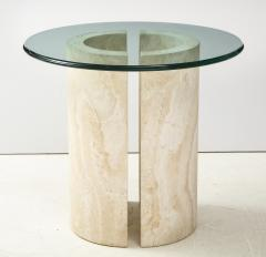 Travertine Dining Table Side Table - 2056240