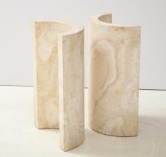 Travertine Dining Table Side Table - 2056246