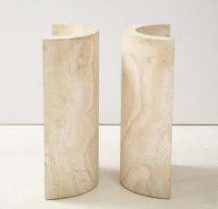 Travertine Dining Table Side Table - 2056250