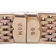 Tri Color Gold Hinged Bangle Bracelet - 1978689