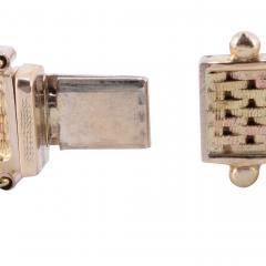 Tri Color Gold Hinged Bangle Bracelet - 1978691