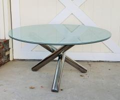 Tripod Dining Table with Crackled Glass Top - 1831154