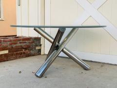 Tripod Dining Table with Crackled Glass Top - 1831157