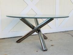 Tripod Dining Table with Crackled Glass Top - 1831160