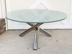 Tripod Dining Table with Crackled Glass Top - 1831161