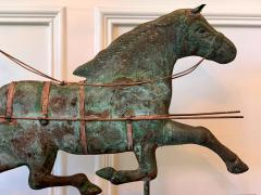 Trotting Horse with Sulky Copper Weathervane on Display - 1381142