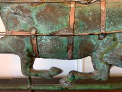 Trotting Horse with Sulky Copper Weathervane on Display - 1381144