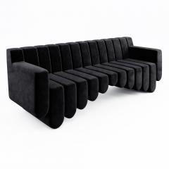 Troy Smith 21st Century Hand Made In Italy Contemporary Three Seat Sofa - 759344