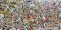Troy Smith ACRYLIC PAINTING BY ARTIST TROY SMITH 36 X 72 CONTEMPORARY ART ABSTRACTION - 1065135