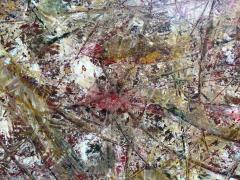 Troy Smith ACRYLIC PAINTING BY ARTIST TROY SMITH 36 X 72 CONTEMPORARY ART ABSTRACTION - 1065145