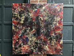 Troy Smith ACRYLIC PAINTING BY ARTIST TROY SMITH 48 X 48 CONTEMPORARY ART ABSTRACTION - 1065164