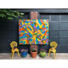 Troy Smith ACRYLIC PAINTING BY ARTIST TROY SMITH 60 X 72 CONTEMPORARY ART ABSTRACTION - 1066750