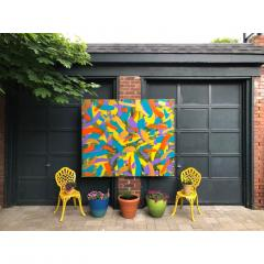 Troy Smith ACRYLIC PAINTING BY ARTIST TROY SMITH 60 X 72 CONTEMPORARY ART ABSTRACTION - 1066753