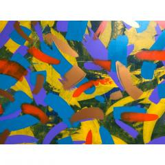 Troy Smith ACRYLIC PAINTING BY ARTIST TROY SMITH 60 X 72 CONTEMPORARY ART ABSTRACTION - 1066754
