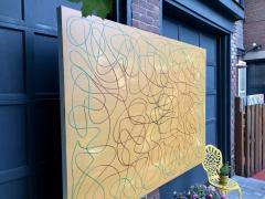 Troy Smith ACRYLIC PAINTING BY ARTIST TROY SMITH 60 X 84 CONTEMPORARY ART ABSTRACTION - 1075831