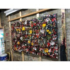 Troy Smith ACRYLIC PAINTING BY ARTIST TROY SMITH CONTEMPORARY ART ABSTRACTION - 1080349