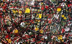 Troy Smith ACRYLIC PAINTING BY ARTIST TROY SMITH CONTEMPORARY ART ABSTRACTION - 1090102