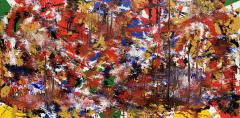 Troy Smith Abstract Expressionist Fine Art Acrylic Painting Red Green Black Blue - 1692809