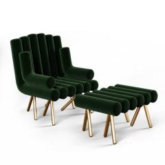 Troy Smith CUSTOMIZABLE FLUTE LOUNGE CHAIR - 942796