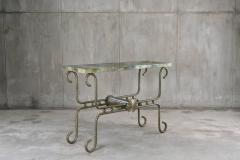Troy Smith Contemporary Solid Steel and Thick Marble Topped Console - 443891