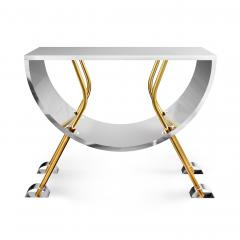 Troy Smith DOUBLE D CONSOLE IN BRASS AND STAINLESS STEEL BY ARTIST TROY SMITH - 1034779