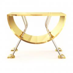 Troy Smith DOUBLE D CONSOLE IN BRASS AND STAINLESS STEEL BY ARTIST TROY SMITH - 1034781