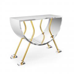 Troy Smith DOUBLE D CONSOLE IN BRASS AND STAINLESS STEEL BY ARTIST TROY SMITH - 1034782