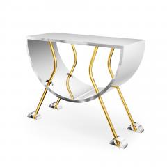 Troy Smith DOUBLE D CONSOLE IN BRASS AND STAINLESS STEEL BY ARTIST TROY SMITH - 1034783