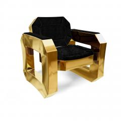 Troy Smith FACET LOUNGE CHAIR BY ARTIST TROY SMITH CONTEMPORARY DESIGN HANDMADE - 1034792