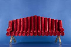 Troy Smith Flute Sofa - 357949