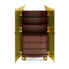 Troy Smith ONE OF A KIND ORIGINAL CUSTOM HANDMADE CABINET IN BRONZE JADE AND ROSEWOOD - 942948