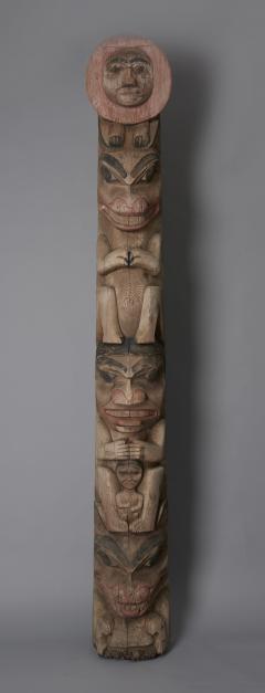 Tsimshian Tribe Raven Totem Pole - 1043021