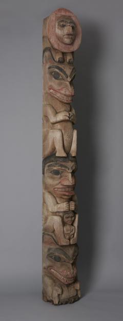 Tsimshian Tribe Raven Totem Pole - 1043022