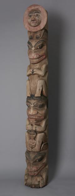 Tsimshian Tribe Raven Totem Pole - 1043023