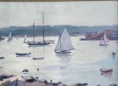 Tunis Ponsen Sailboats in the Harbor Glaucester - 1663824