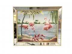 Turner Billy Seay 1922 2012 Airbrush Flamingos Hawaiian Art for Turner - 1356589