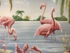 Turner Billy Seay 1922 2012 Airbrush Flamingos Hawaiian Art for Turner - 1356591
