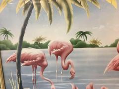 Turner Billy Seay 1922 2012 Airbrush Flamingos Hawaiian Art for Turner - 1356593