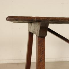 Tuscan Trestle Walnut Farm Table Circa 1780 - 905782
