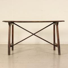 Tuscan Trestle Walnut Farm Table Circa 1780 - 905788